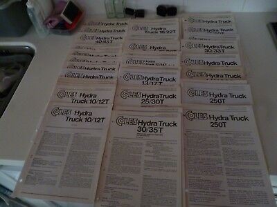 80+ COLES CRANE/CRANES HYDRA TRUCK RELATED 1970s ASSORTED LEAFLETS *AS PICTURES*