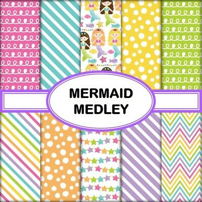 MERMAID MEDLEY SCRAPBOOK PAPER - 10 x A4 pages