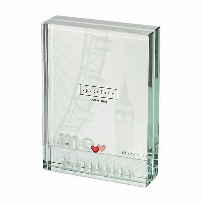 Spaceform Glass Me & Mum Heart Small Picture Photo Frame Mother's Day Gift