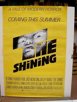 Stanley Kubrick's film poster THE SHINING an original no damage