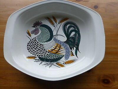 Poole Pottery Retro Lucullus Rooster Roasting Dish Robert Jefferson 1960