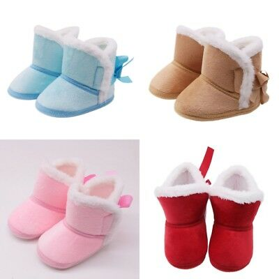 0-18 months Toddler Booties Girls Boy Soft Sole Baby Boots Infant Crib Shoes UK