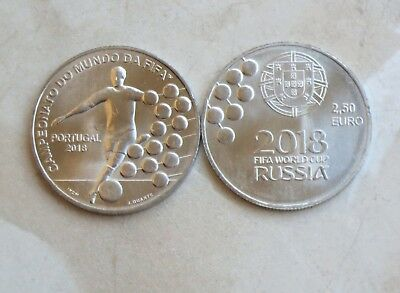 "PORTUGAL 2018 - 2,5 Euro "" Fußball WM in Russland "" in St"