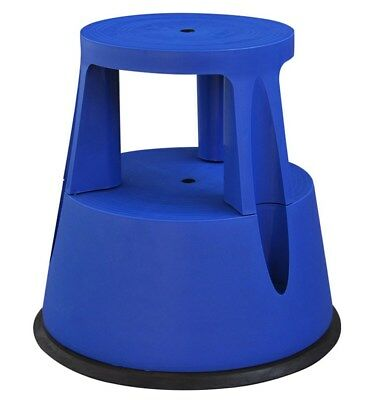 Blue Plastic Polypropylene Step Stool Rolling Kick-Stool 979155 M2GB#