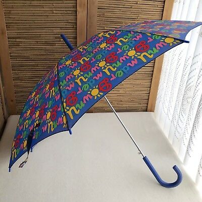 Fabulous RARE Vintage 80s KEN DONE 'Downunder' PRINT Colourful NYLON Umbrella