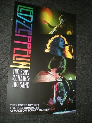 POSTER by LED ZEPPELIN song remains the same sountrack film promo live MSG #
