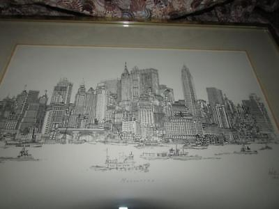 Richard Welling Signed Limited Edition Lithograph Manhattan 1967