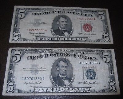 1953 silver certificate and a 1963 U.S. ''STAR'' note. both for one bid.