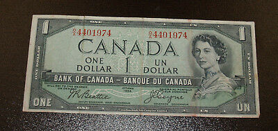 1954 Bank of Canada Devil's Face $1 Note - O/A - Very Fine Note