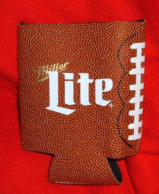 Miller Lite Football Leather-like Can Bottle Coozie Koozie Cooler NFL Promo NEW