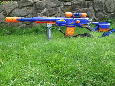 NERF Longstrike CS-6 snipers rifle. Fully dressed, with custom barrel sleeve