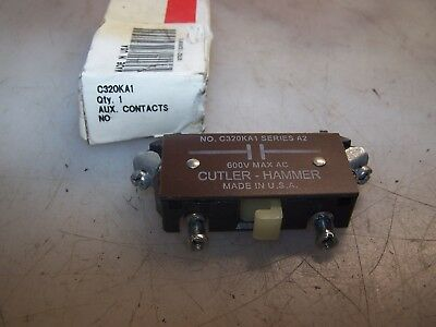 New Cutler Hammer C320Ka1 Series A2 Auxiliary Contact 600 Vac Max