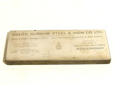 Antique South Durham Steel & Iron Co Official Letter Head Metal Printing Block *
