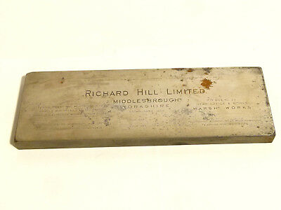 Antique Richard Hill Ltd Middlesborough Letter Head Steel Metal Printing Block *