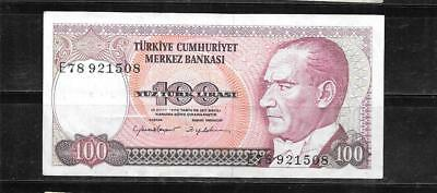 TURKEY #194b 1984 100 LIRE VF USED OLD BANKNOTE PAPER MONEY CURRENCY BILL NOTE
