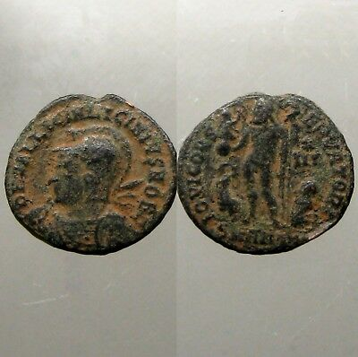 LICINIUS II BRONZE AE3___Jupiter Between Eagle & Captive_SAND PATINA