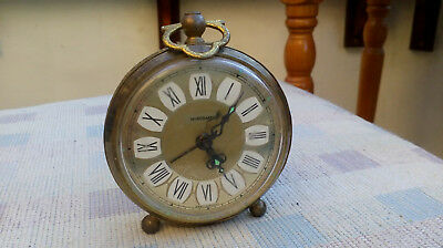 Vintage Marksman Alarm Clock - Mechanical Movement - Made In West Germany