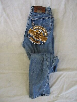 AMERICANINO vintage made Italy stonewash high waist straight jeans 28 33 NEW