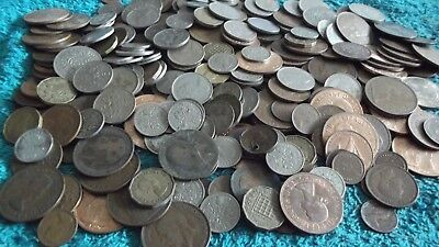 BULK/JOB LOT OF APPROX 1.7 KGS OF OLD BRITISH COINS FREE POSTAGE 99p  APP 1.7