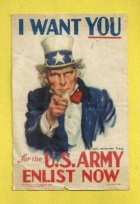 1940 WWI U. S. ARMY HOME FRONT SMALL PRINT Illustration James Montgomery Flagg