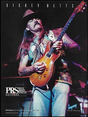 Dickey Betts 1995 PRS Guitar ad 8 x 11 advertisement print Allman Brothers Band