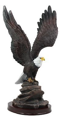 "American Pride Wildlife Bald Eagle Taking Flight Statue 14.5""H Independence Day"