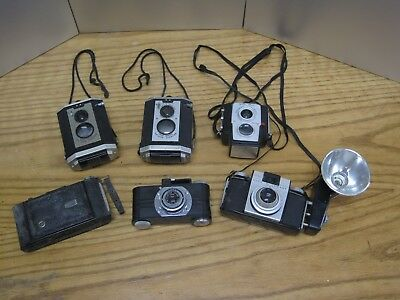 Lot of 6 Vintage Cameras Kodak Brownie Pony Argus Others