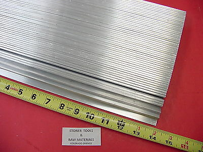 "50 Pieces 1/8"" X 1"" ALUMINUM FLAT BAR 14"" long 6061 T6511 New Mill Stock"