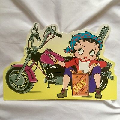 "NEW Classic 1999 Betty Boop w/Motorcycle & Gas Can 4"" x 6"" Postcard"