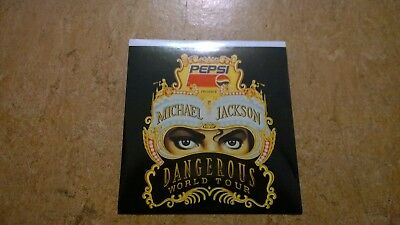 Michael Jackson Dangerous German Sticker Aufkleber Promo Promotion 1992 Pepsi