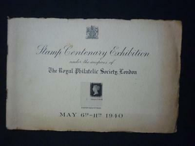 STAMP CENTENARY EXHIBITION - MAY 6TH-11TH 1940 by RPSL