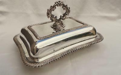 Excellent Old Sheffield Plate Silver 3 X Piece 'cushion' Shaped Entree Dish Set