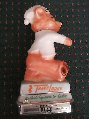 Vintage 1972 Travel Lodge Sleepy Bear Jim Beam  Whiskey Decanter