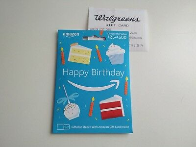 25 Amazon Gift Card New Unused With Receipt 22 50 Picclick
