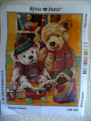 """Tapestry Canvas """" Jouets d'antan  New by Royal Paris"""