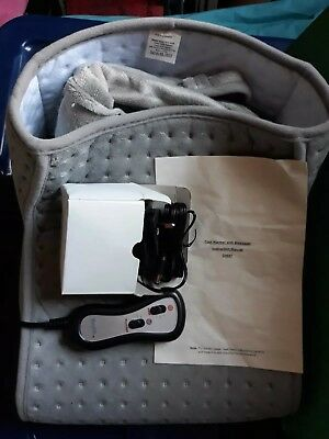 Electric Heated Comfort Fleece Suede Comfy Foot Massager Warmer - Used once