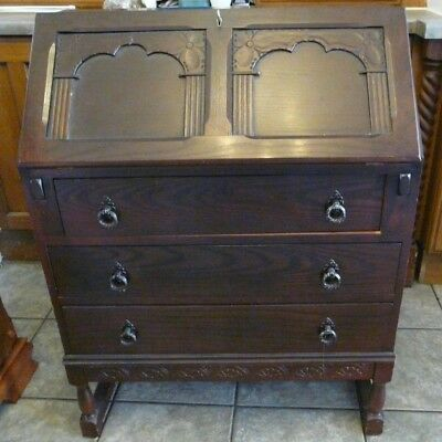 Dark Oak Reproduction Writing Bureau