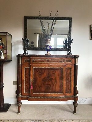 Antique LOUIS XVI Credenza Sideboard/Cabinet Marquetry Marble