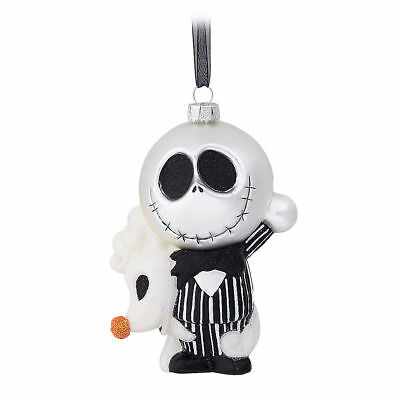 2017 Jack Zero Dog Glass Ornament Nightmare Before Christmas Disney Store Parks