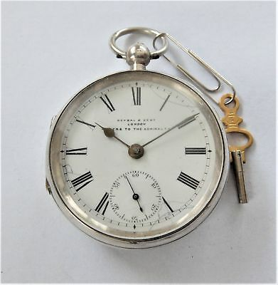 1902 Silver Cased English Lever Pocket Watch Kendal & Dent London Working