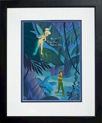 Signed Margaret Kerry Tinker Bell NEW Frame Making Mischief Cel Disney Sericel