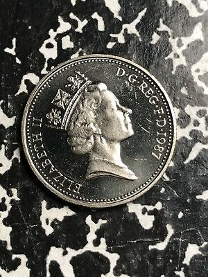 1987 Great Britain 5 Pence Lot#X8033 Proof!