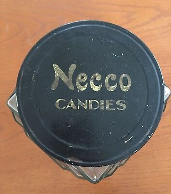 """Antique Vtg Large 10"""" NECCO Candies Art Deco Store Candy Jar, Anchor Hocking"""