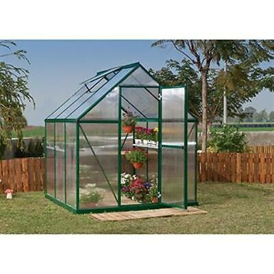 Palram HG5006G Mythos Greenhouse - 6 x 6 ft. - Forest Green