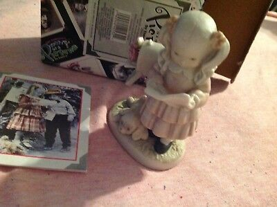 Kim Anderson's Bisque Figurine Signed Sealed & Delivered with Love w/Box 1997