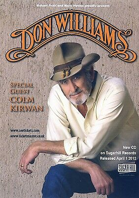DON WILLIAMS Theatre Flyer 2012 Tour Handbill
