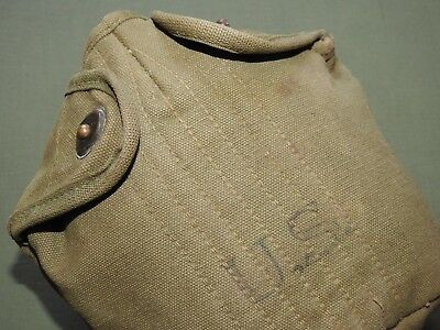 US Army USMC Marine WW2 M-1910 OD CANTEEN COVER EXC 1945 Vtg GI Carry Pouch