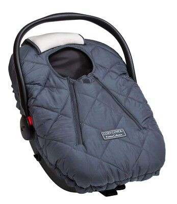 Cozy Cover Premium Infant Car Seat Cover (Charcoal) With Polar Fleece
