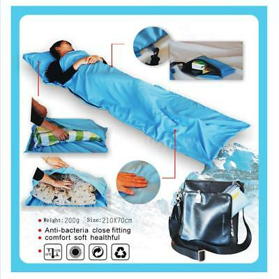 Ultra-light Single Polyester Pongee Healthy Sleeping Bag Liner Portable Y1E1