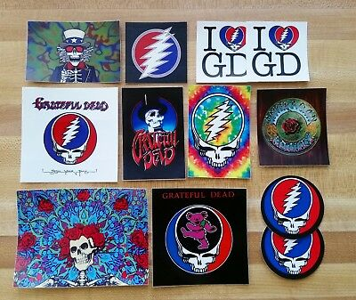 Lot Of 12 Grateful Dead Stickers. Bertha. Steal Your Face.